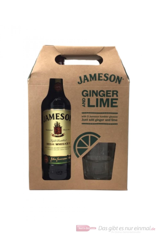 Jameson Irish Whiskey in Geschenkbox mit 2 Gläsern