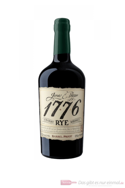James E. Pepper 1776 Rye Barrel Proof Whiskey 0,7l