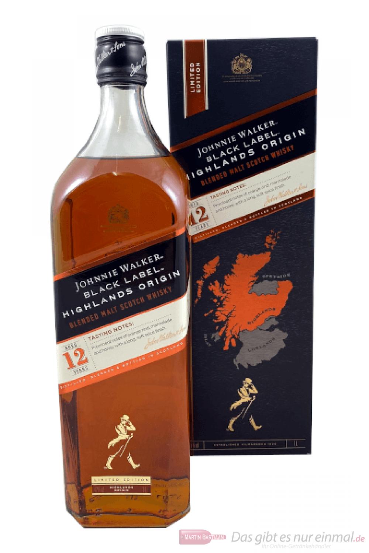 Johnnie Walker Black Highlands Origin Blended Scotch Whisky 1,0l