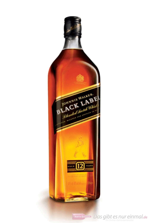 Johnnie Walker Black Label Blended Scotch Whisky 1,0l