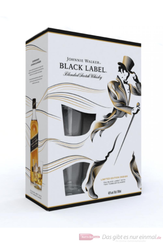 Johnnie Walker Black Label in GP mit Glas