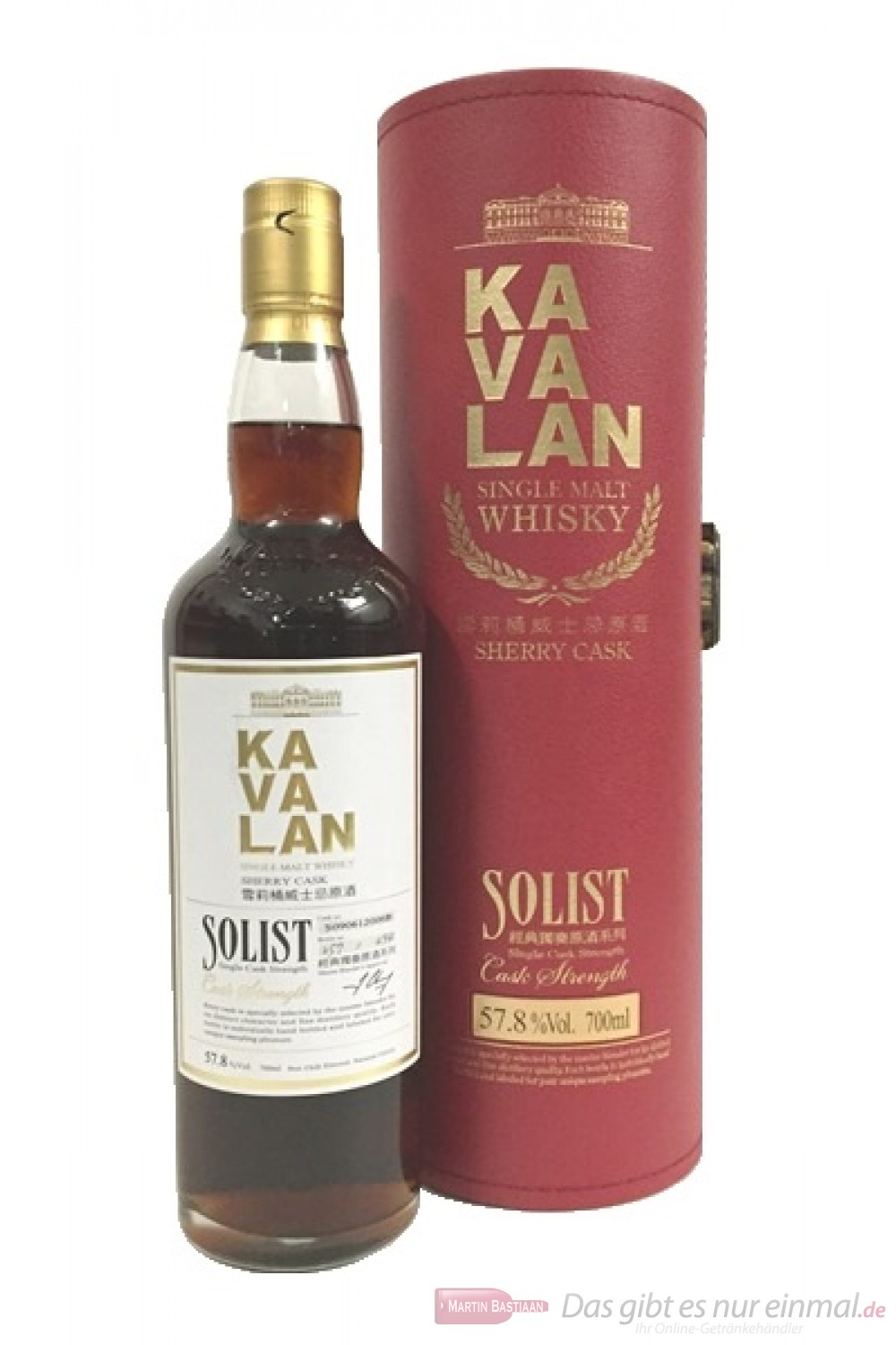 Kavalan Solist Sherry Cask Strength Whisky 57,8%