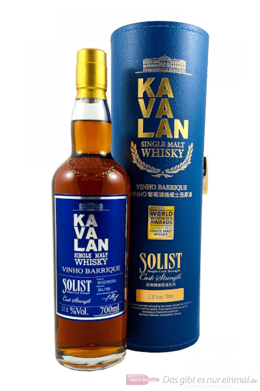 Kavalan Solist Vinho Single Malt Whisky 57,8% 0,7l