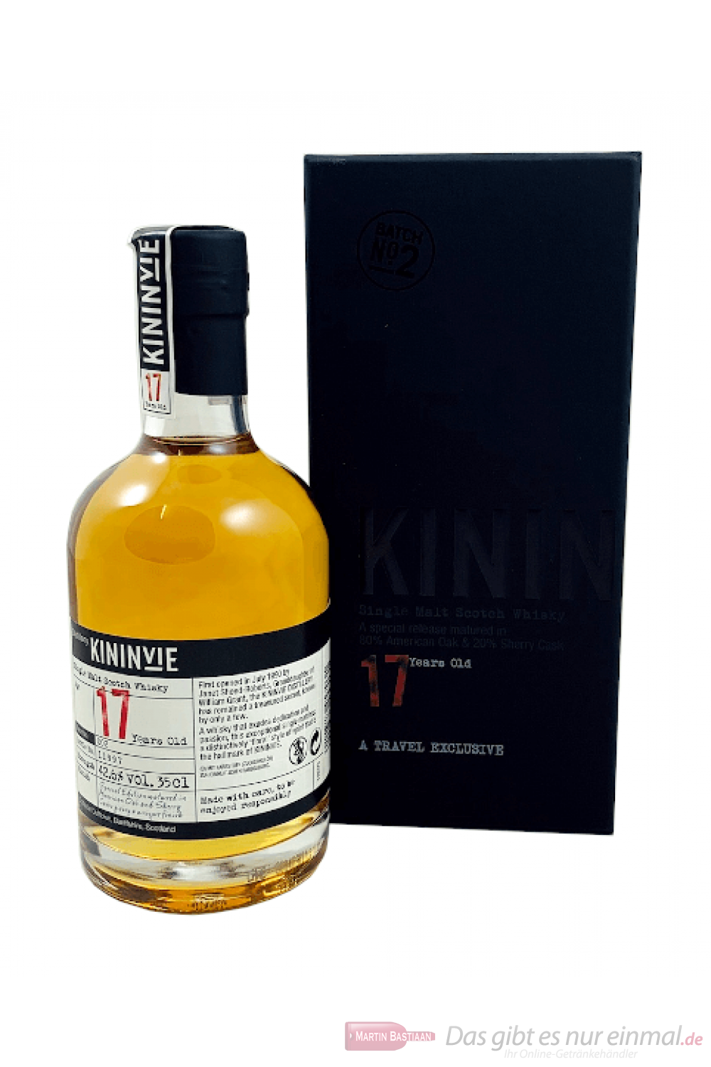 Kininvie 17 Years Batch No. 2 Single Malt Scotch Whisky 0,35l