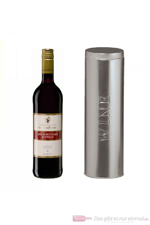 Königschaffhausen Spätburgunder Kabinett trocken Rotwein 2009 11,5% 0,75l Flasche in Metalldose Wine