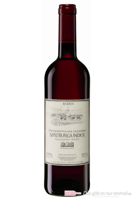 Königschaffhausen Spätburgunder Steingrüble Barrique Qba trocken Rotwein 2007 13% 0,75l Flasche
