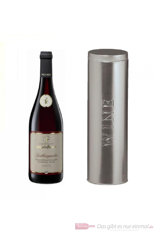 Königschaffhausen Spätburgunder Steingrüble Qba trocken Rotwein 2008 13% 0,75l Flasche in Metalldose Wine