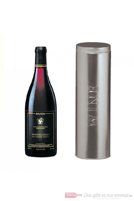 Königschaffhausen Spätburgunder Steingrüble Selektion Qba trocken Rotwein 2009 12,5% 0,75l Flasche in Metalldose Wine