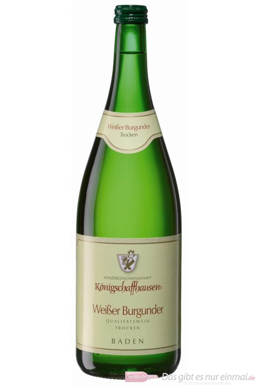 Königschaffhausen Weißburgunder Qba trocken Weißwein 2009 12,5% 1,0l Flasche