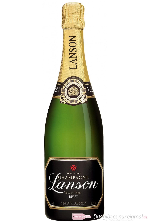 Lanson Champagner Black Label Brut 12% 0,75l Flasche