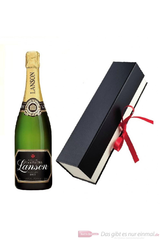 Lanson Champagner Black Label in Geschenkfaltschachtel
