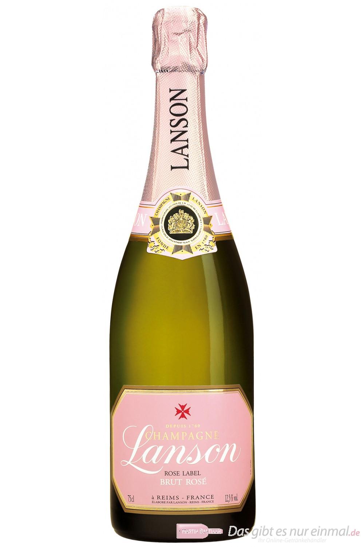 Lanson Champagner Rosé Label