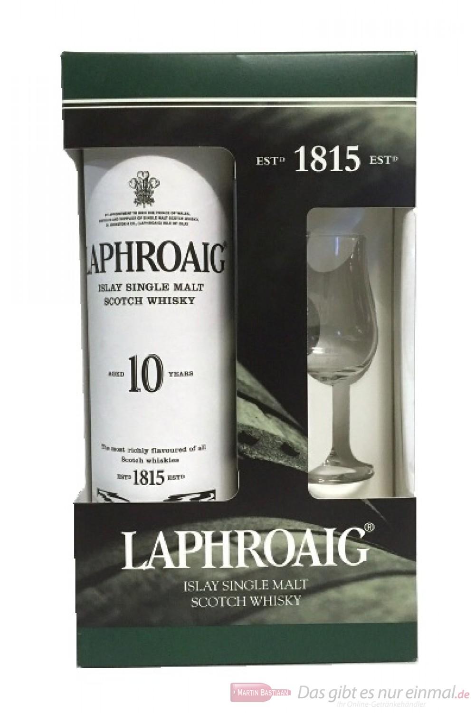 Laphroaig 10 Jahre mit Glas