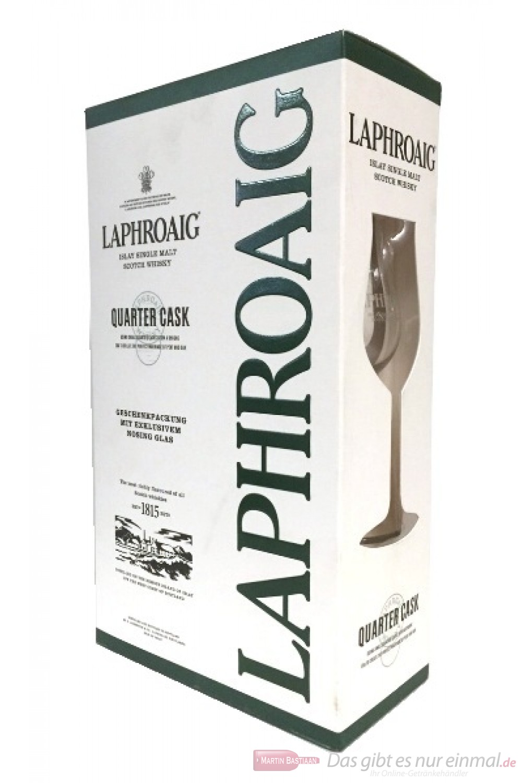 Laphroaig Quarter Cask in Geschenkverpackung mit Glas
