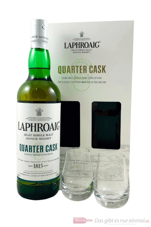 Laphroaig Quarter Cask in Geschenkverpackung mit Glas 0,7l
