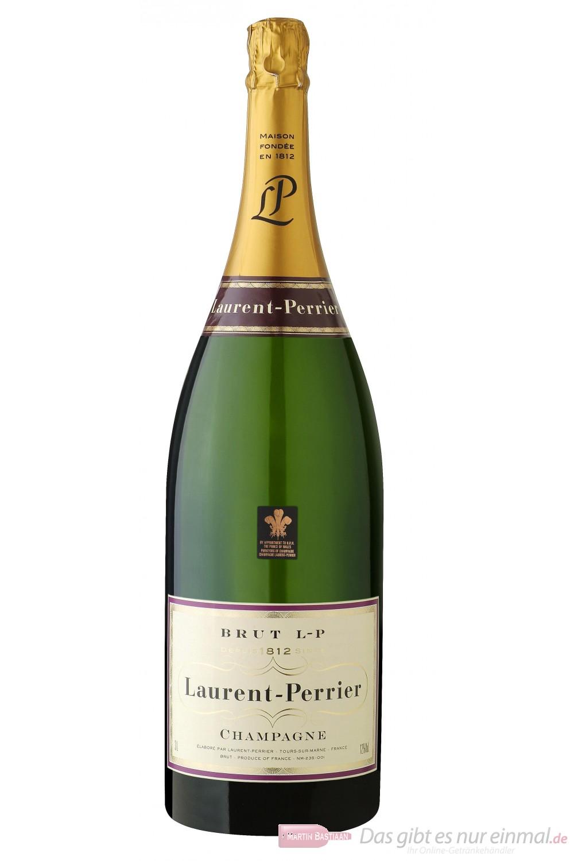 Laurent Perrier Champagner Brut Jeroboam 12% 3,0l Großflasche in Holzkiste