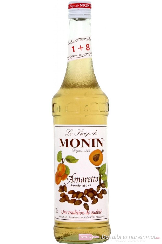 Le Sirop de Monin Amaretto Sirup 1:8 0,7 l Flasche