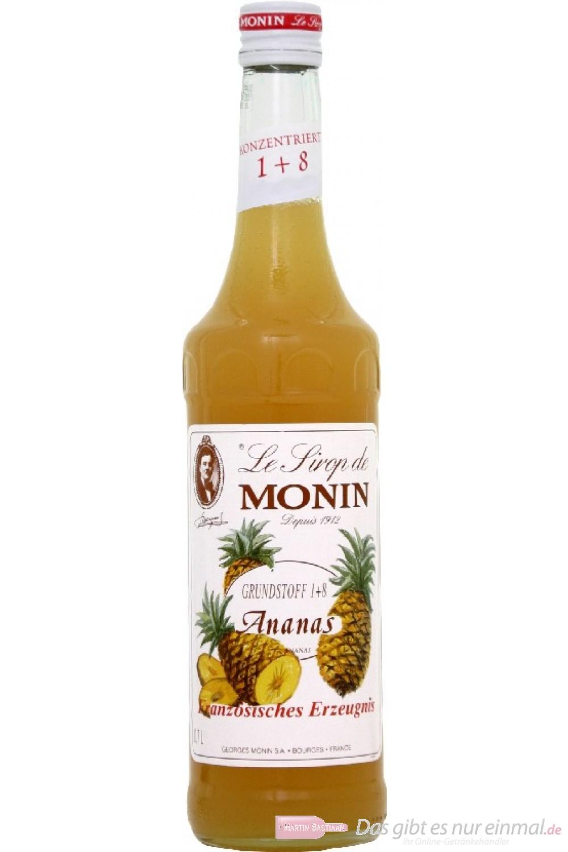 Le Sirop de Monin Ananas Sirup 1:8 0,7 l Flasche