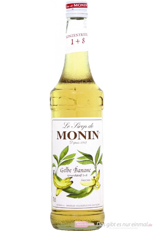 Le Sirop de Monin Bananen Sirup gelb 1:8 0,7 l Flasche