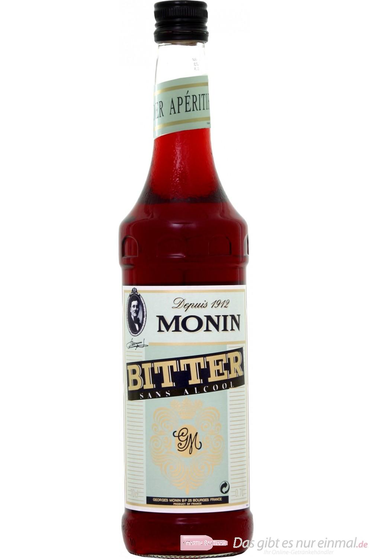 Le Sirop de Monin Bitter Sirup 1:8 0,7l Flasche