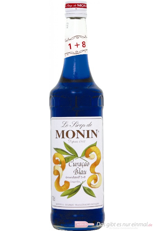Le Sirop de Monin Blue Curacao Sirup 1:8 0,7l Flasche