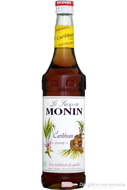 Le Sirop de Monin Carribean Rum Sirup 1:8 0,7 l Flasche