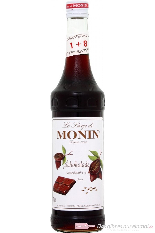 Le Sirop de Monin Chocolat Schokoladen Sirup 1:8 0,7 l Flasche