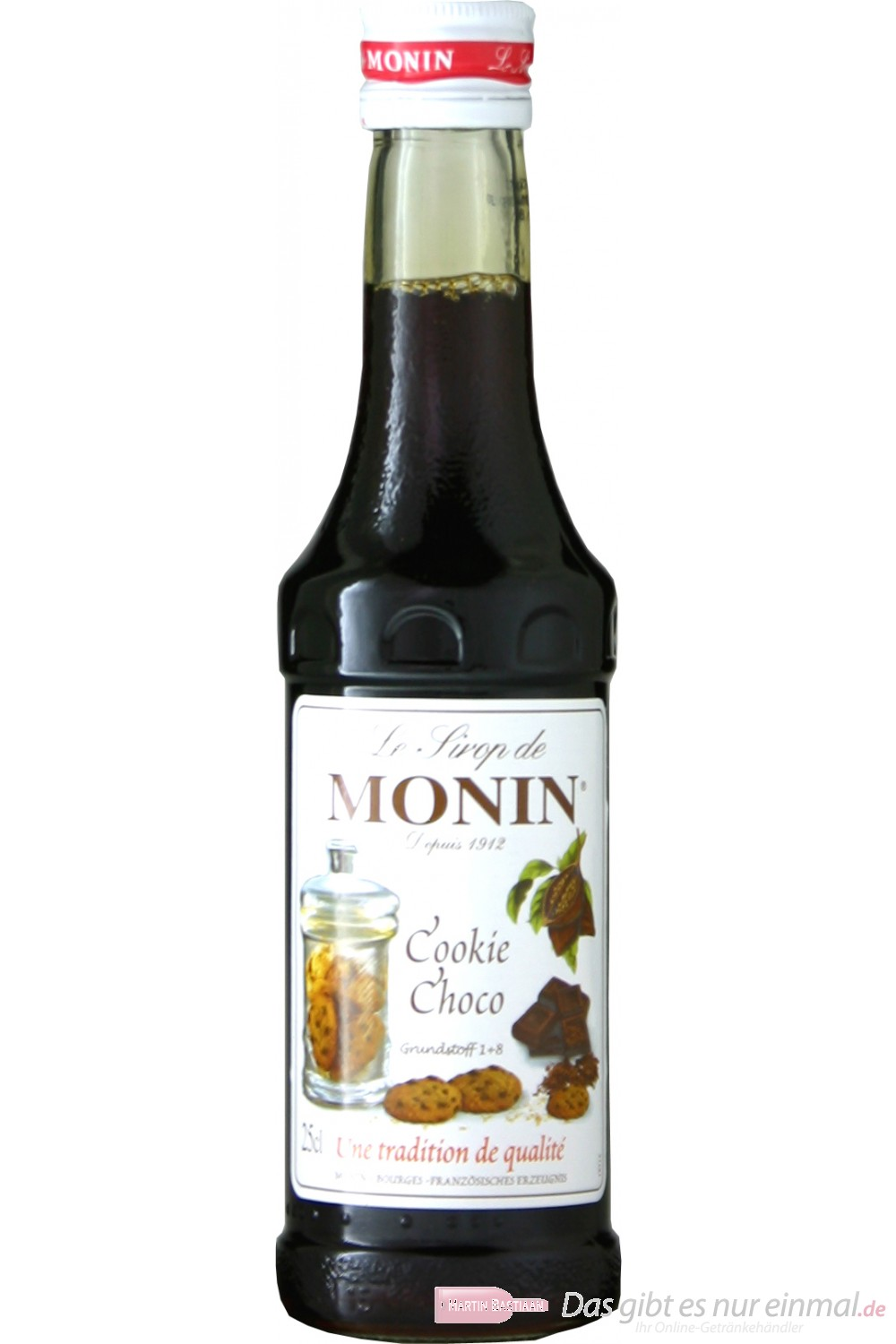 Le Sirop de Monin Cookie Choco Sirup 1:8 0,25l Flasche