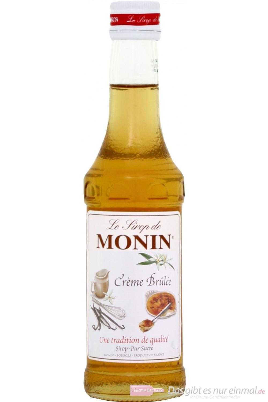 Le Sirop de Monin Creme Brulee Sirup 1:8 0,25l Flasche