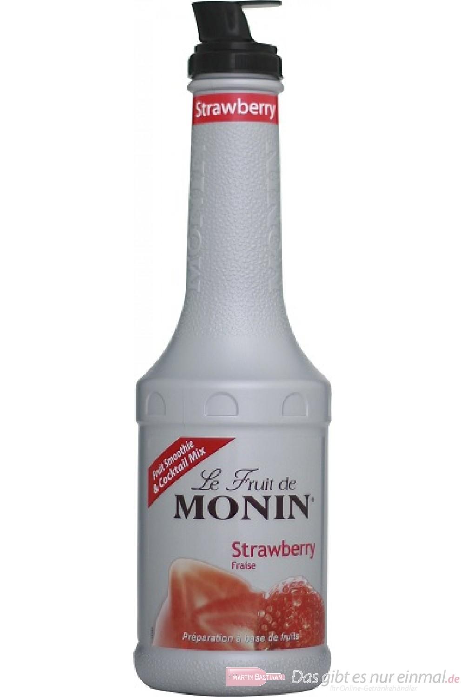 Le Sirop de Monin Fruchtpüree Erdbeer 1,0l Flasche