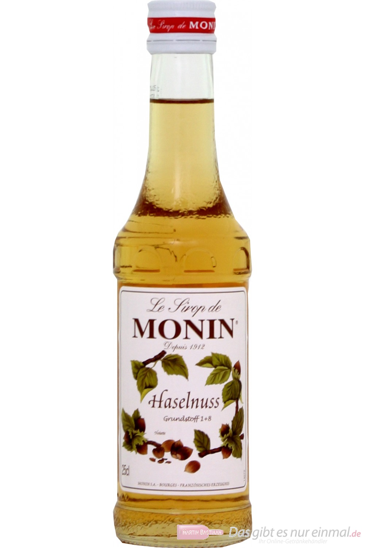 Le Sirop de Monin Haselnuss Sirup 1:8 0,25l Flasche