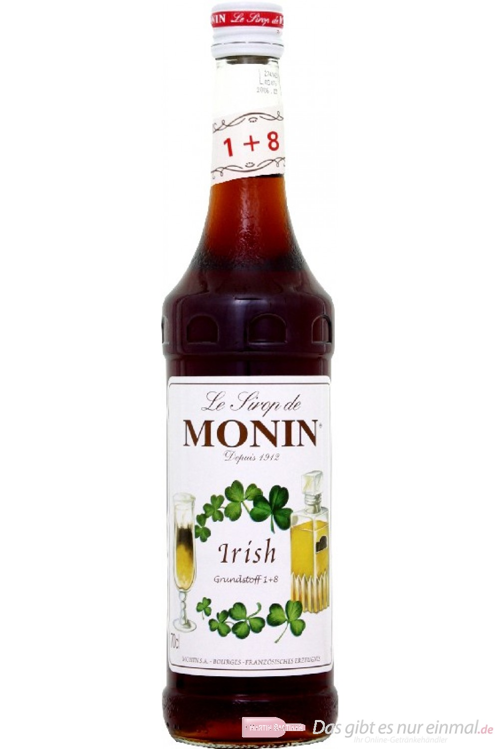 Le Sirop de Monin Irish Cream Sirup 1:8 0,7l Flasche