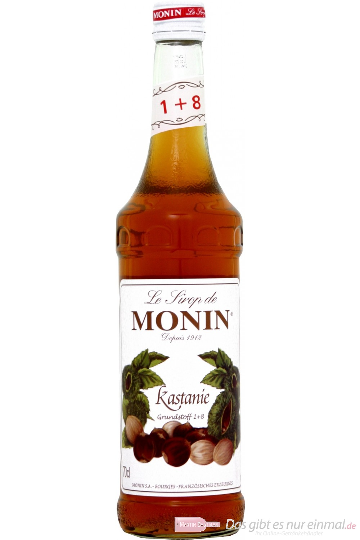Le Sirop de Monin Kastanie Sirup 1:8 0,7 l Flasche