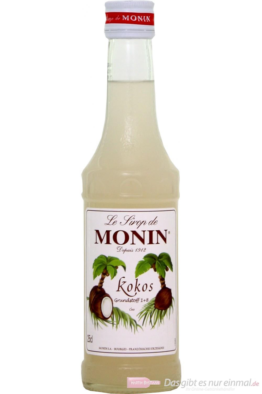 Le Sirop de Monin Kokosnuss Sirup 1:8 0,25l Flasche