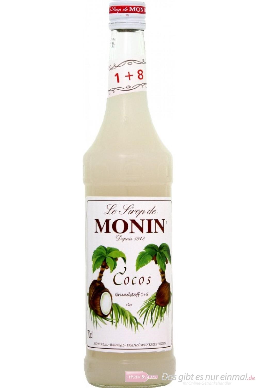 Le Sirop de Monin Kokosnuss Sirup 1:8 0,7 l Flasche