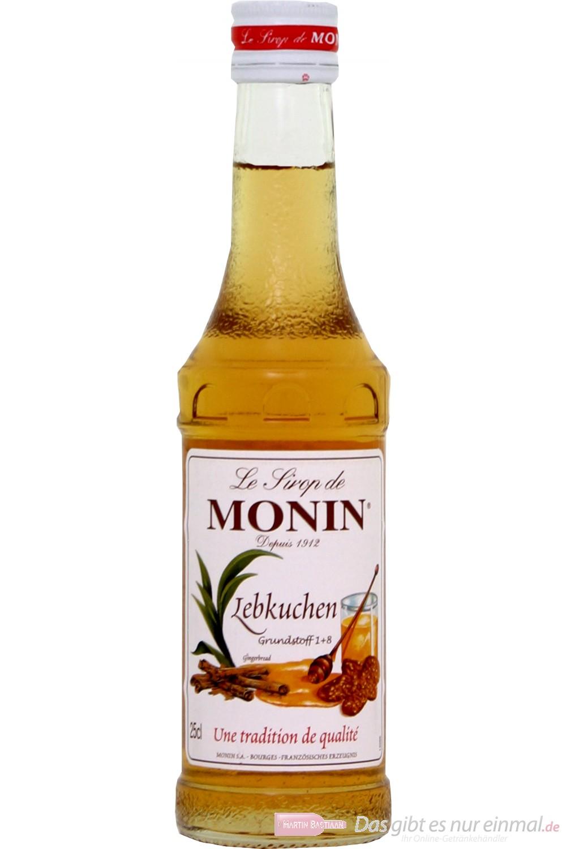 Le Sirop de Monin Lebkuchen Sirup 1:8 0,25l Flasche