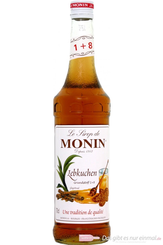 Le Sirop de Monin Lebkuchen Sirup 1:8 0,7l Flasche