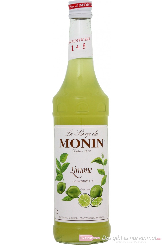 Le Sirop de Monin Limonen Sirup 0,7l Flasche