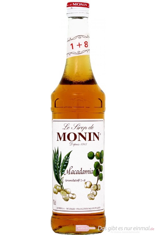 Le Sirop de Monin Macadamia Nuss Sirup 1:8 0,7l Flasche