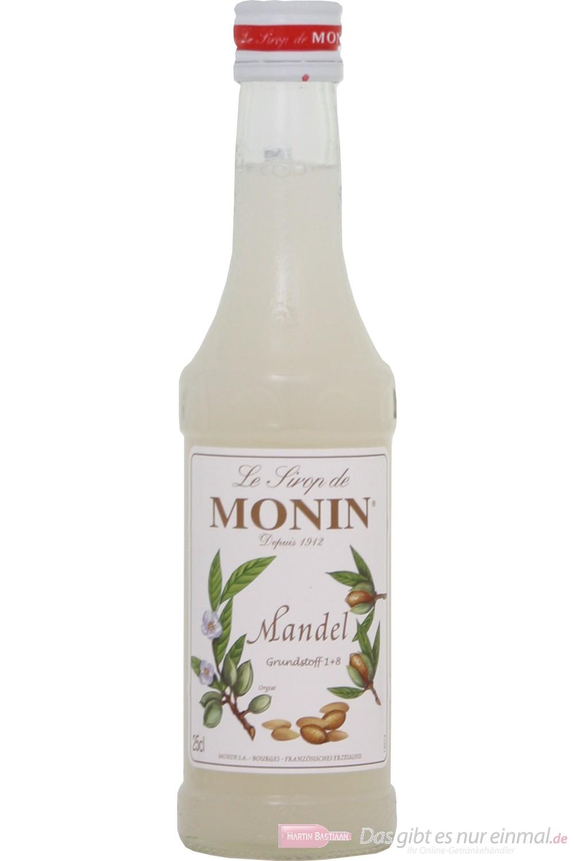 Le Sirop de Monin Mandel Sirup 1:8 0,25l Flasche