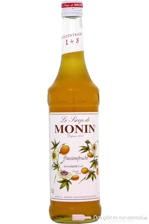 Le Sirop de Monin Maracuja Sirup Passionsfrucht 1:8 0,7l Flasche
