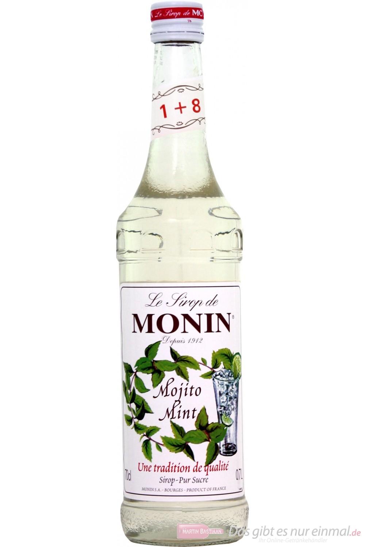 Le Sirop de Monin Mojito Mint Sirup 1:8 0,7l Flasche