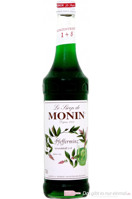 Le Sirop de Monin Pfefferminz grün Sirup 1:8 0,7 l Flasche