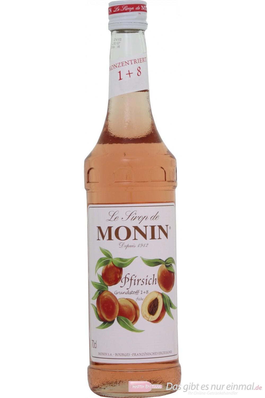 Le Sirop de Monin Pfirsich Sirup 1:8 0,7 l Flasche