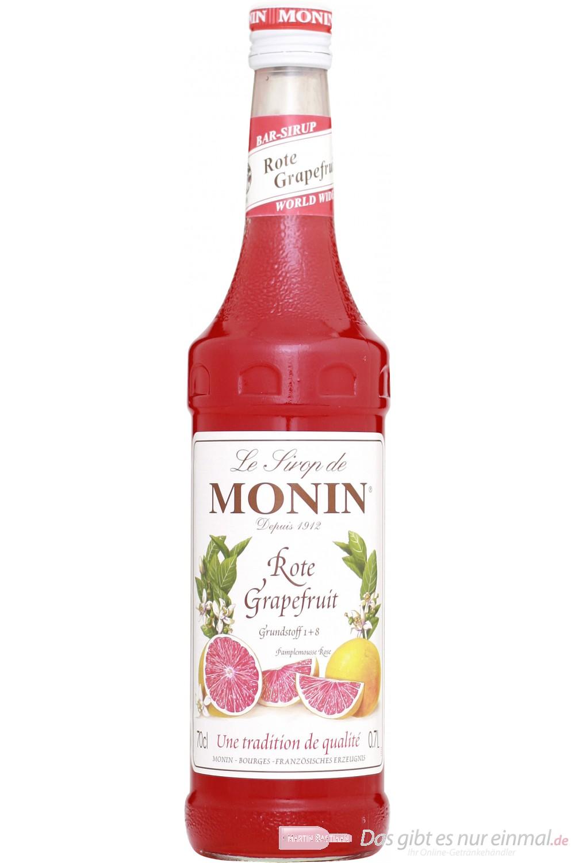 Le Sirop de Monin Mit dem Le Sirop de Monin Rote Grapefruit Sirup erhalten Sie einen herlich fruchtigen Sirup dieser Zitrusfrucht. Der Geschmack reifer Grapefruits wird Sie begeistern und vom Le Sirop de Monin Rote Grapefruit Sirup überzeugen. Grapefruit