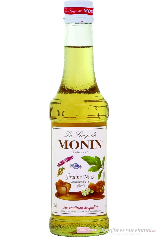 Le Sirop de Monin Praline Nuss Sirup 1:8 0,25l Flasche