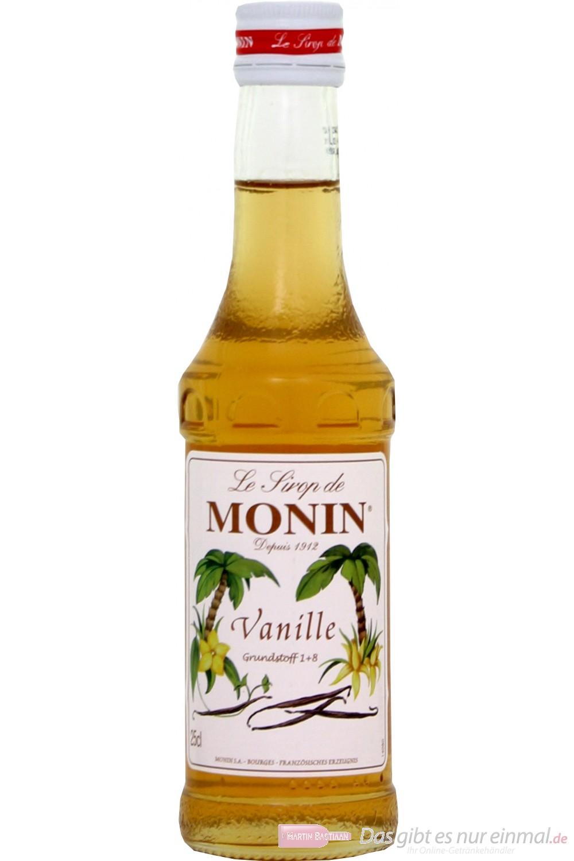Le Sirop de Monin Vanille Sirup 1:8 0,25l Flasche