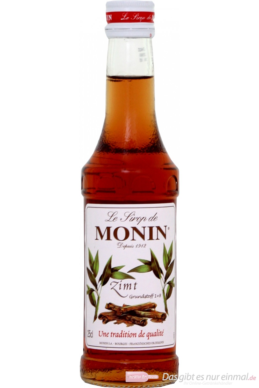 Le Sirop de Monin Zimt Sirup 1:8 0,25l Flasche