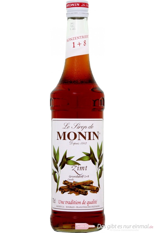 Le Sirop de Monin Zimt Sirup 1:8 0,7 l Flasche