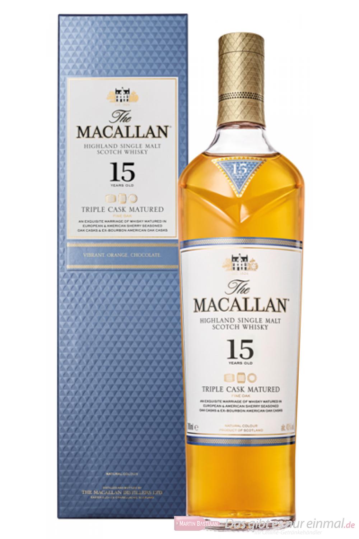 The Macallan 15 Years Triple Cask